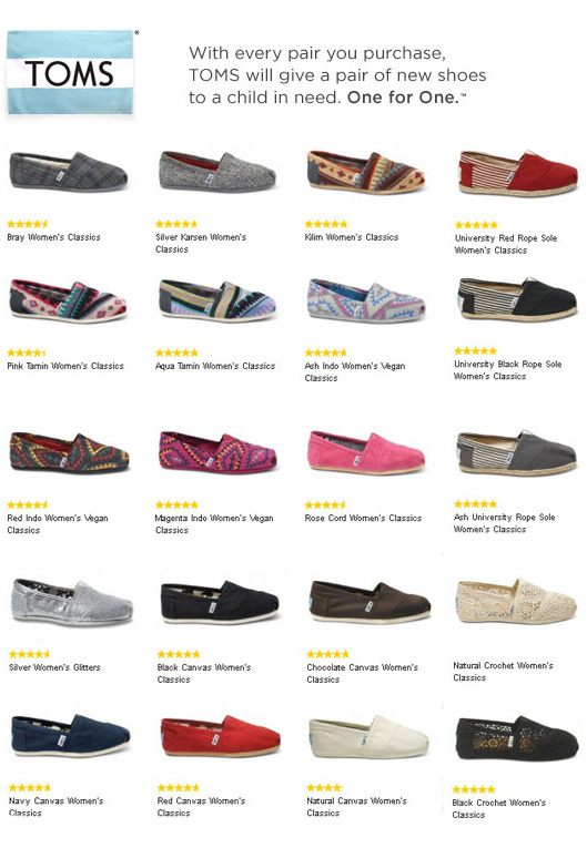 TOMS Shoes Collection